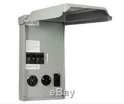 100-Amp 3-Space/Circuit 120/240-Volt Unmetered RV Outlet Power-Box 50/30/20 GFCI