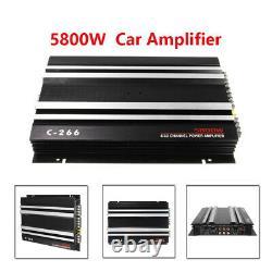12V 4 Channel 5800W Car Vehicle Amplifier Stereo Audio Speaker Amp For Subwoofer