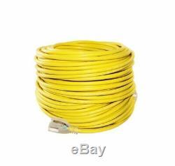 12/3 200ft SJTW Lighted End Extension Cord 15 Amp 300 Volt 1875 Watt (200 feet)
