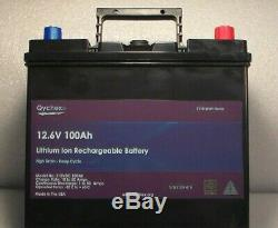 12 Volt 100Ah Multi-Purpose Lithium Rechargeable Battery & 20 Amp Charger