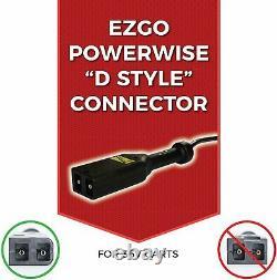 18 Amp Waterproof EZGO TXT Battery Charger 36 Volt Golf Carts D Style Plug