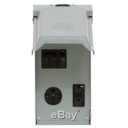 240-Volt Unmetered RV Outlet Box 2-Space 2-Circuit with 50 20 Amp GFCI Protected