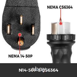 30FT Generator Power Cord 50-Amp 125/250-volt 14-50P to CS6364 Locking Connector