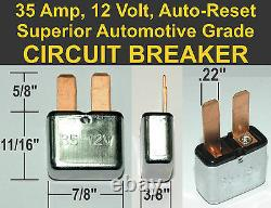 35A 12V CIRCUIT BREAKER 35 Amp 12 Volt Automotive GM General Motors blade fuse