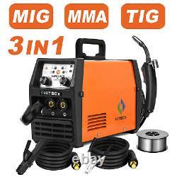 3in1 MIG Welder 120Amp 110/220V Dual Volt Stick ARC LIFT TIG MIG Welding Machine