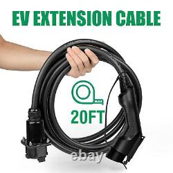 40A EV charger Extension Cable J1772 Electric Vehicle Car Charging Station Cord