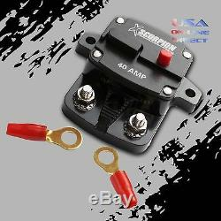 40 AMP IN-LINE POWER MARINE RATED CIRCUIT BREAKER REPLACES FUSE HOLDER 12Volt