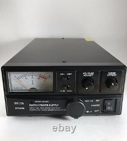60 Amp 12v DELTA DPS60M AC/DC Power Supply with Volt AMP Meter Ham CB Radio