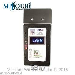 65 Amp 12/24 Volt Solid State PWM Charge Controller with Volt Meter 4 Wind Solar