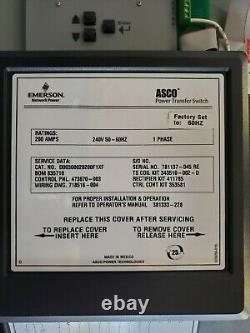 ASCO Series 300 Automatic Transfer Switch 200 AMP, 240 Volt, 1 Phase