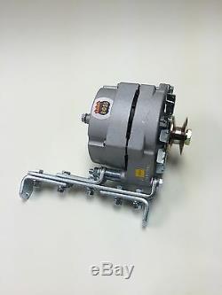 Alternator One Wire 1 Wire 6 Volt Positive Ground 60 Amp, Bracket, 3/4 Pulley
