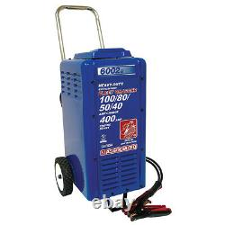 Associated Battery Charger 6/12/24 Volt, 100/80/50/40 Amp Charge with Crank Assist