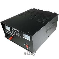 Audiotek AT-PS53M Output 50A-53A Amp Mobile 13.8 Volt DC Heavy Duty Power Supply