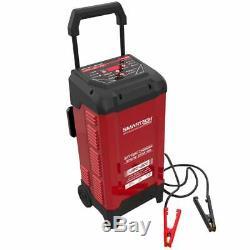 Automotive Battery Charger Digital 6/12Volt 200Amp Jump Starter Voltmeter Wheels