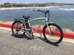 Beach Cruiser Electric Bike 500 watt 48 volt 13 amp E-bike Step Over Frame