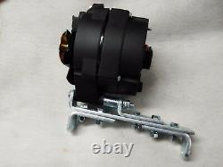 Black 6 volt 80 amp 1 wire alternator Positive Ground withBracket & pulley