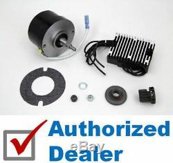 Black Generator Alternator 12 Volt 17 Amp Conversion Kit Harley Flathead 45 WL