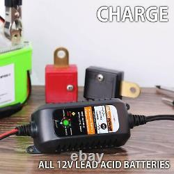 Car Battery Charger Maintainer RV Truck Motorcycle 12V Amp Volt Smart Trickle