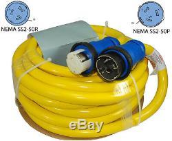 Conntek 17541 NEMA SS2-50 125/250 Volt 50 Amp Marine Shore Power Cord, 50ft