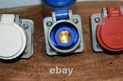 Crouse Hinds E1016 Female Camlok Connectors WithCovers Set Of 5 Volts 600 400 Amps
