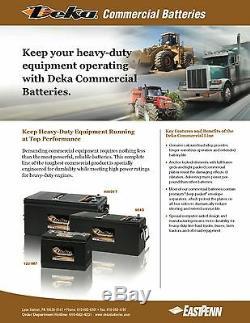 DEKA GENUINE NEW 908D 12Volt Commercial Battery 1720Amp CrankingPower (Group 8D)