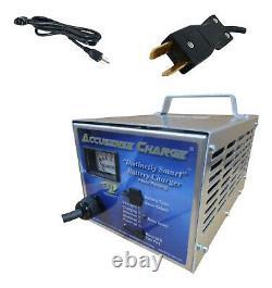 DPI 48 volt 17 amp golf cart battery charger Crowfoot connector USA Made