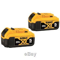 DeWalt DCB2052 XR 2-Pack 20-Volt Max 5 Amp-Hour Lithium Power Tool Battery Kit