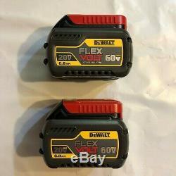 Dewalt DCB606-2 Lot of 2 60 volt Flex Volt 6 amp Battery NEW