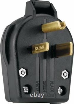 Direct 25' 220 Volt 50 Amp Heavy Duty 8/3 Welder Extension Cord with Outlet & Plug