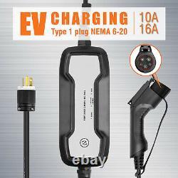 EVSE Electric Vehicle Charger EV Level 2 110V-220Volt 10/16A for Leaf Volt Prius