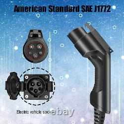 EV Charger Charging Extension Cable J1772 40Amp 20ft Electric Vehicle Cord EVSE