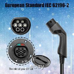 EV Ladestation 32A Typ 2 1 Phase Stecker Mit Ladegerät Elektroauto IEC 62196-2