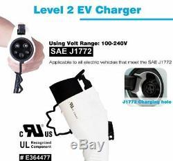 Electric Vehicle Level 2 EV Charger 32 Amp 14-50 Plug ADJUSTABLE 25ft 240 Volt