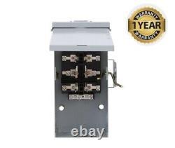 Emergency Power Transfer Switch 100 Amp 240 Volt Non Fused Run Backup Generator