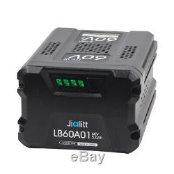 For GreenWorks Pro 60V Max 5.0Ah Lithium-Ion Battery LB604 LB60A02 60 Volt 5 AMP