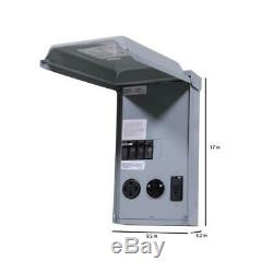 GE 100 Amp 3-Space 3-Circuit 240-Volt Unmetered RV Outlet Box With 50/30/20 Amp