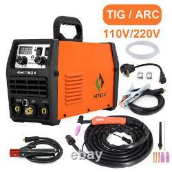 HITBOX 200AMP 110/220V TIG Welder Dual Volt Inverter MMA ARC TIG Welding Machine