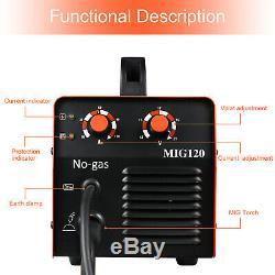HITBOX MIG 120AMP 110/220V Dual Volt Welder IGBT MIG Inverter Welding Machine