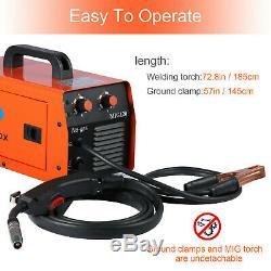 HITBOX MIG/MAG Welding 120AMP Dual Volt Gasless Flux-Core Welder Machine MIG120