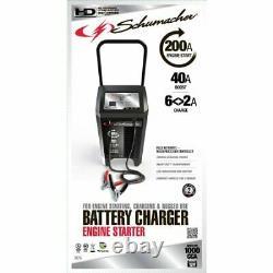 Heavy Duty 200 Amp Wheeled 6 & 12 Volt Battery Starter Charger Auto Schumacher