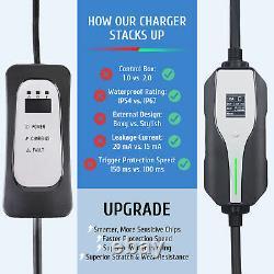 Home EV Charger 240Volt 32A 5X Faster EVSE J1772 EV Charging Cable Portable 25FT