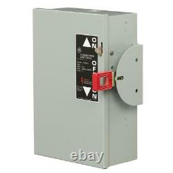 Hook-Stick Operation Safety Switch Double Throw GE 60 Amp 240 Volt Lockable 3POS