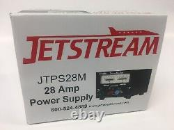 Jetstream JTPS28M 28 Amp Switching Power Supply withVolt and Current Meters