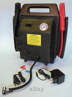KFZ KOMPRESSOR POWER PACK STARTHILFE JUMPSTARTER AKKU 12 Volt 900Amp 7102