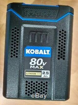 KOBALT 80v 2.5 Ah MAX LITHIUM-ION Battery KB2580-06 Quick Charge 80 Volt 2.5 Amp