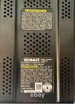 KOBALT 80v 5.0Ah MAX LITHIUM-ION Battery KB580-06 80 Volt 5.0 Amp
