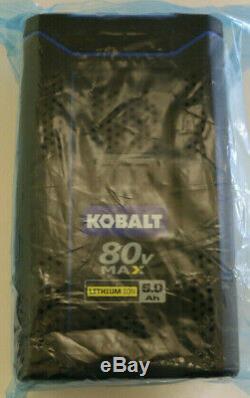 KOBALT 80v 5.0Ah MAX LITHIUM-ION Battery KB580-06 Quick Charge 80 Volt 5.0 Amp
