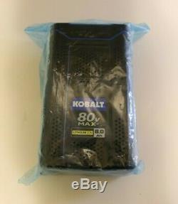 KOBALT 80v 6.0Ah MAX LITHIUM-ION Battery KB680-06 Quick Charge 80 Volt 6.0 Amp
