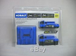 Kobalt 24-volt Max 2-Amp-Hours/4-Amp-Hours Lithium Battery Kit KBC2424-03 NEW