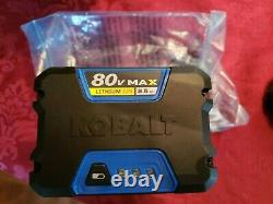 Kobalt MAX 80V 2.5Ah Quick Charge LITHIUM ION Battery 80 Volt Power Tool 2.5 Amp